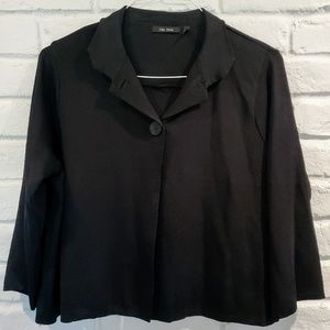 Plus size 2X 16w black knitted bolero jacket